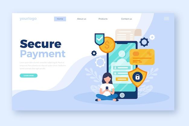 Página de destino de pago seguro