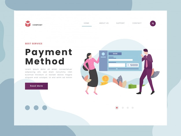 Página de destino de pago
