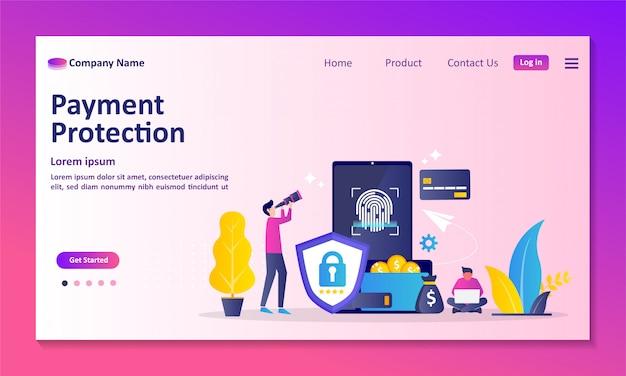 Página de destino de protección de pagos
