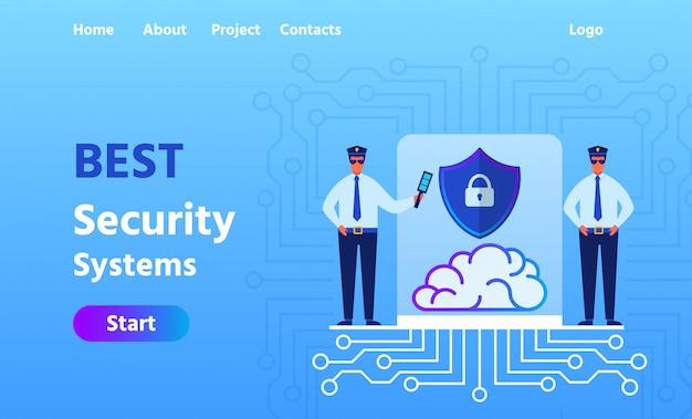 Página de destino de publicidad mejor sistema de seguridad