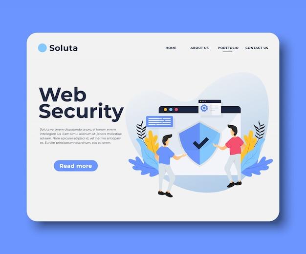Página de destino de seguridad web