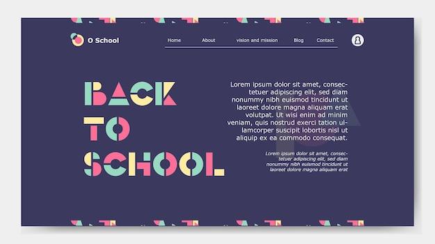 Página de destino simple de regreso a schoola