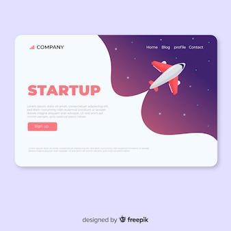 Página de destino para startup