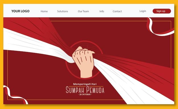 Página de destino sumpah pemuda day oktober 2