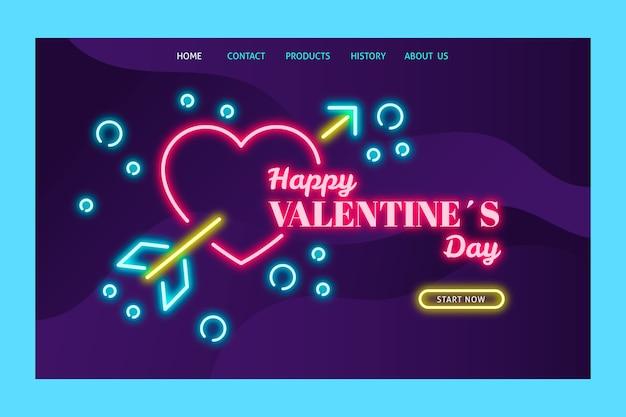 Página de destino con tema del día de san valentín