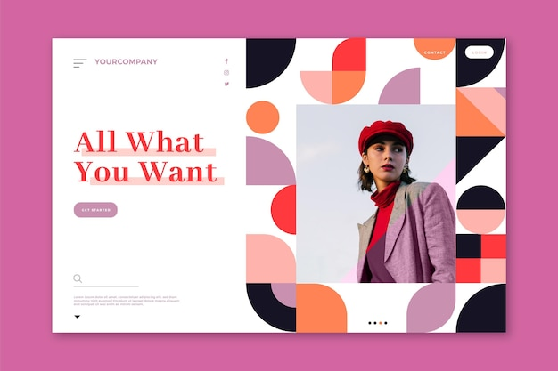 Página de destino para ventas de moda
