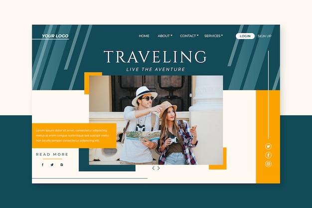 La página de destino viaja con foto