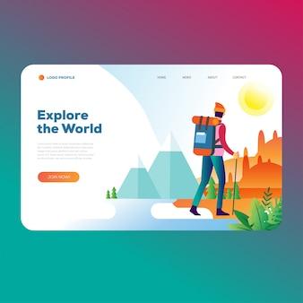 Página de destino de viajes