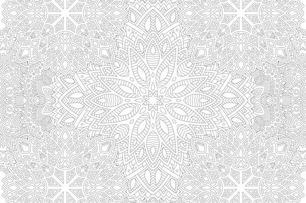 Página elegante para colorear de arte lineal