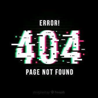 Página de error 404 con distorsión