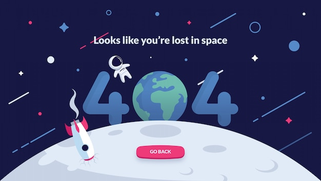 Página de error 404: espacio