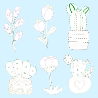 Página de flores para colorear diseño vectorial