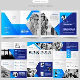 Página folleto de perfil de empresa