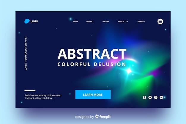 Página de inicio abstracta colorida ilusión