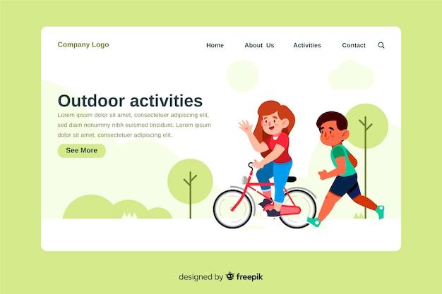 Página de inicio de actividades al aire libre