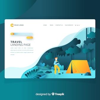 Página de inicio de agencia de viajes