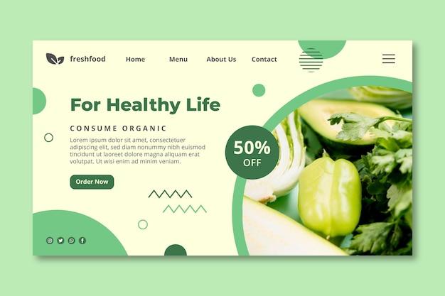 Página de inicio de alimentos biológicos y saludables