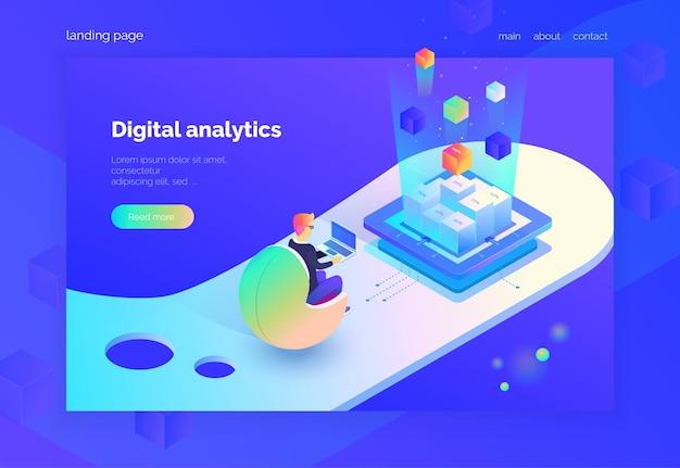 Página de inicio de análisis digital para web