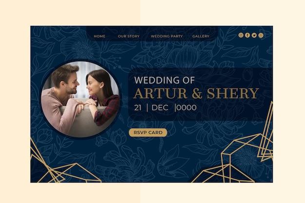 Página de inicio de aniversario de boda