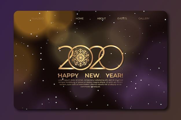 Página de inicio de año nuevo borrosa