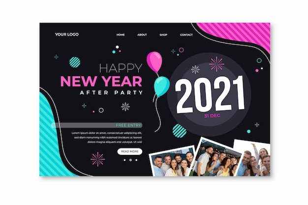 Página de inicio de año nuevo