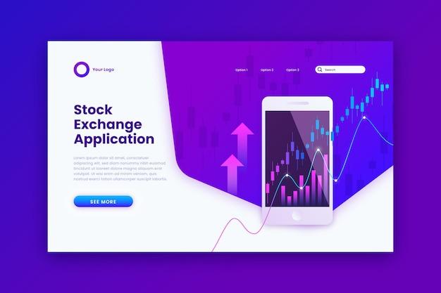 Página de inicio de la aplicación de bolsa