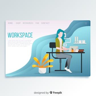 Página de inicio del área de trabajo