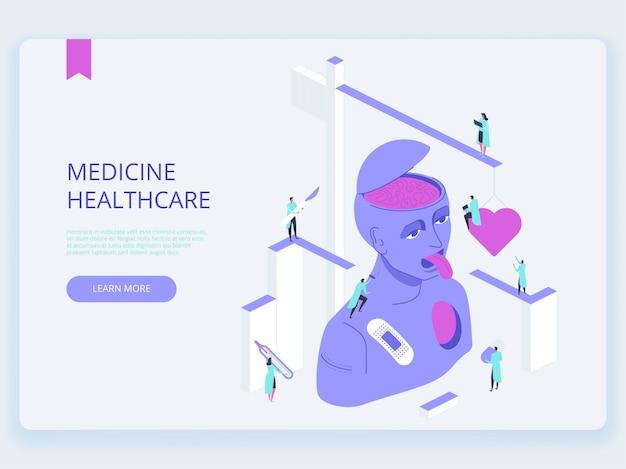 Página de inicio de atención médica de medicina