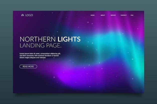 Página de inicio de la aurora boreal