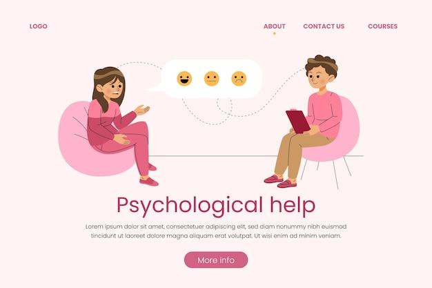 Página de inicio de ayuda psicológica