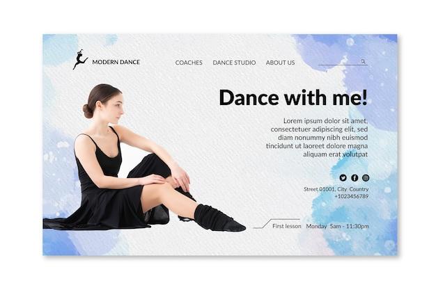 Página de inicio de baile