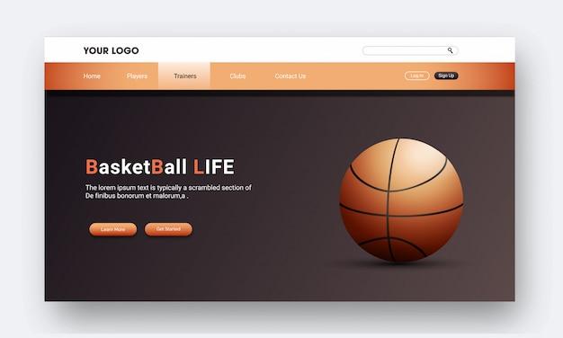 Página de inicio de baloncesto realista