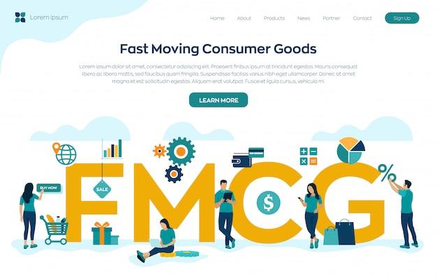 Página de inicio de bienes de consumo de rápido movimiento