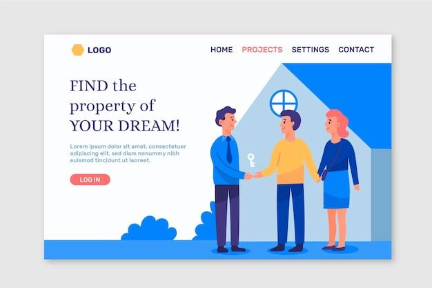 Página de inicio de bienes raíces