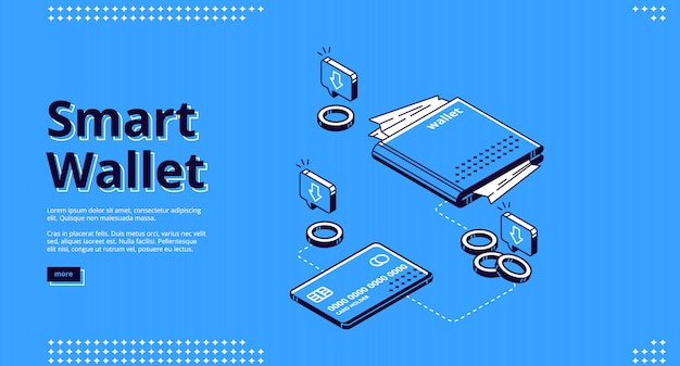 Página de inicio de billetera inteligente, transacciones de dinero
