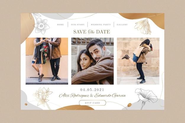 Página de inicio de boda mínima