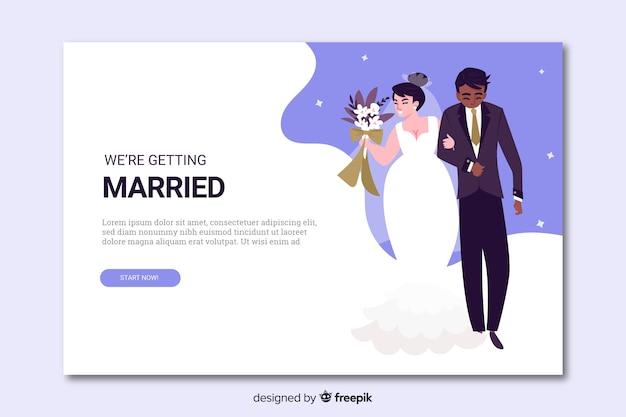 Página de inicio de boda con pareja