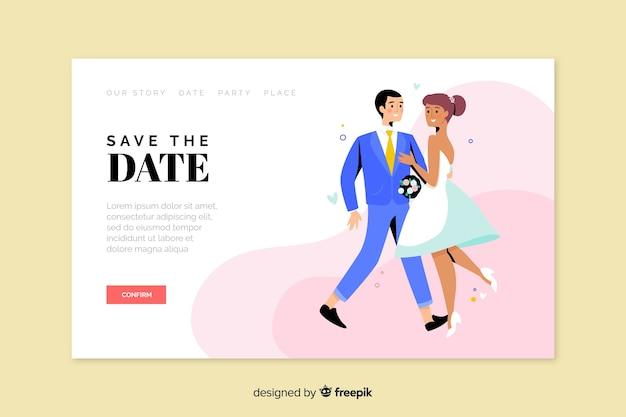 Página de inicio de la boda