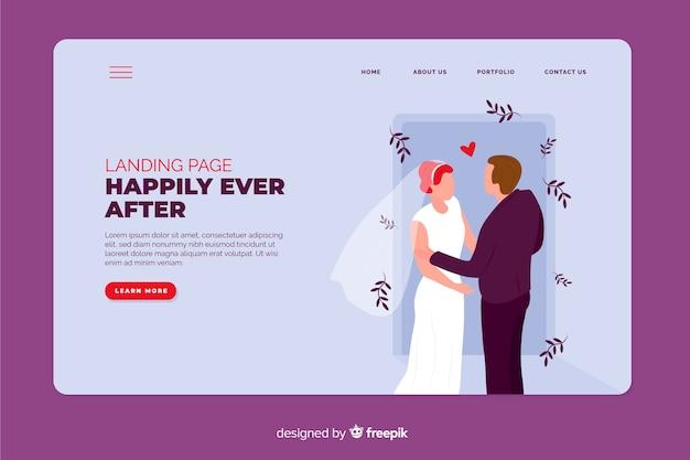 Página de inicio de bodas con foto