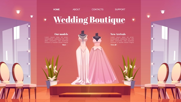 Página de inicio de boutique de bodas