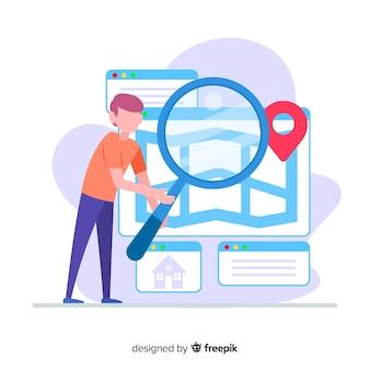 Página de inicio de búsqueda de casa de concepto