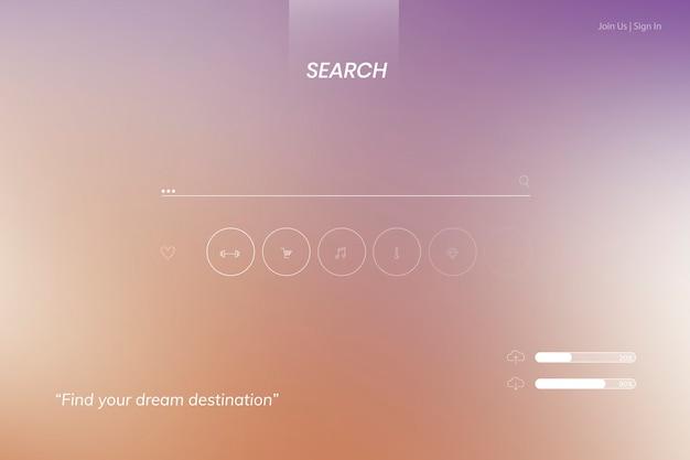 Página de inicio de búsqueda