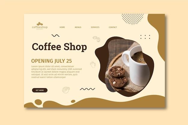 Página de inicio de cafetería