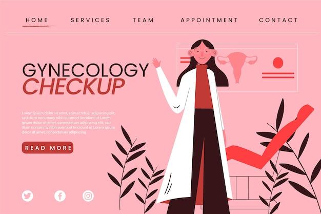 Página de inicio del chequeo de ginecología