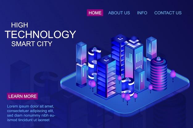 Página de inicio de ciudad inteligente