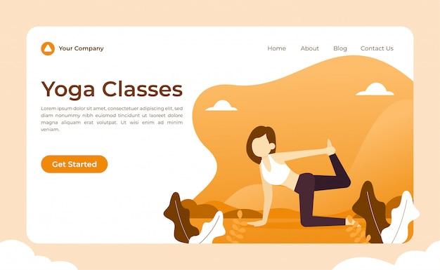 Página de inicio de clases de yoga