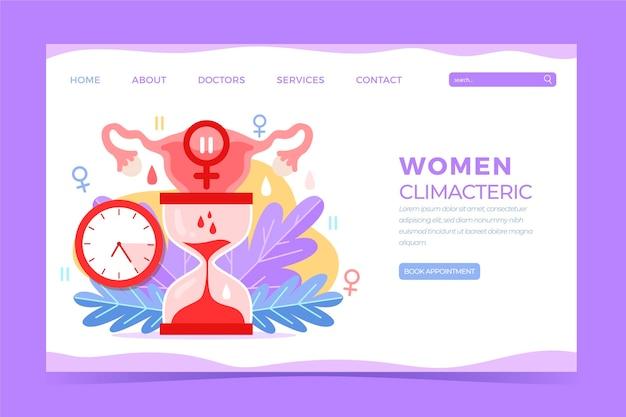 Página de inicio climatérica de mujeres