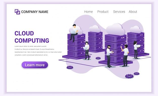 Página de inicio de cloud computing