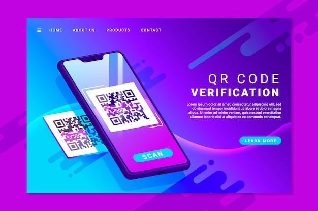 Página de inicio del código qr