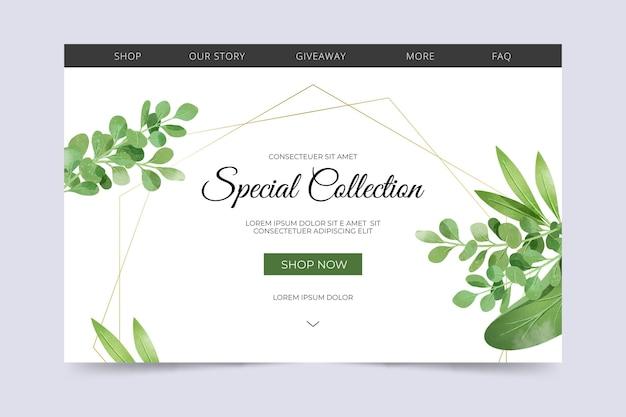 Página de inicio de colección especial